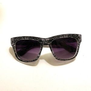 Free People clear lace black purple sunglasses